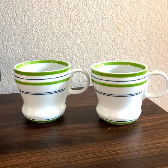 Starbucks 2007 Green Stripes Mug Set